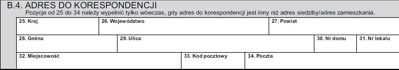 B.4. Adres do korespondencji